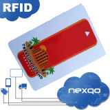 Baja tarjeta ultraligera del control de acceso del plástico MIFARE C RFID del PVC del costo