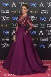 Lange Hülsen-Berühmtheit kleidet Wein-Rot-Abschlussball-Kleid-Abend-Kleider