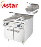 Frituurpan van het Gas van de Apparatuur van het Voedsel van de Keuken van de Machine van de Catering van de Vissen van de Kip van chips de Commerciële