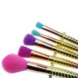 5pcs brosse de l'échelle de poissons chambre bas de la poudre de brosse Blush maquillage brosses cosmétiques Mermaid Fondation professionnel outil pinceau
