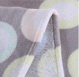 Couverture d'ouatine de flanelle estampée par cercle coloré