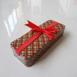 Weihnachtsgeschenk-rechteckiger süsser Zinn-Kasten