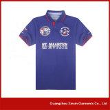 Chemises de polo faites sur commande d'hommes de piqué de coton d'usine de Guangzhou (P104)