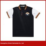 Teeshirts mâles de polo de coton en gros de la bonne qualité 100 % pour l'été (P83)