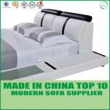 Кровать домашней кожи комплекта спальни мебели самомоднейшей мягкая