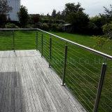 Deckingのための容易なインストールステンレス鋼ケーブルの柵