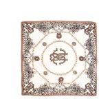 Neue Entwurfs-Uniform gedruckter Firmenzeichen-Silk Polyester-Schal