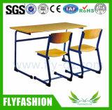 Mobiliario Escolar estudiante doble escritorio y silla (SF-47D)
