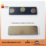 Nombre Nombre de gafetes magnéticos de imán de la etiqueta de metal