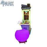Parkour 게임 기계가 위락 공원 동전 미는 사람에 의하여 농담을 한다