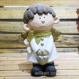 Figurine Gnome девушки украшения дома и сада магнезии миниый