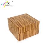 Woodgrainy einzelne Uhr-Papierkästen mit ledernem Kissen kundenspezifisch anfertigen
