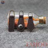 La mode en cuir avec fermeture à glissière en métal de l'extracteur en silicone en caoutchouc
