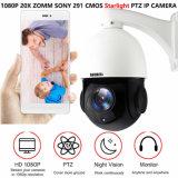 HD de 1080P Starlight Poe a velocidade de zoom óptico 20X Câmara IP PTZ