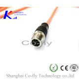 M12 6 Контакт электрический кабель RF женского водонепроницаемый разъем