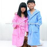 子供/子供の綿/ビロードのフード付きの浴衣/パジャマ/Nightwear