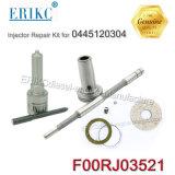 Erikc F00rj03521 KITS DE REPARAÇÃO DE INJECTOR DIESEL BOSCH F 00r J03 521 com bico Dlla144P2273 F00rj02806 de válvulas para motores Cummins 0445120304