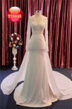 Perler la robe de mariage nuptiale de robe de long train Chiffon de chemises long