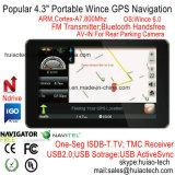 """"""" percorso marino di GPS del camion dell'automobile 4.3 con il navigatore della corteccia A7 GPS, Bluetooth, ISDB-T TV, Tmc, trasmettitore di FM, Avoirdupois-in macchina fotografica posteriore, sistema di percorso tenuto in mano di GPS"""