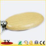 Подгонянная цепь бука формы деревянная ключевая с выгравированным логосом
