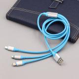 Commerce de gros 1.2M TPE Ronde 3 en 1 Câble USB de charge