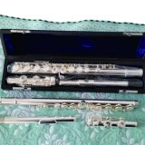16 trous ouvert flûte plaqué argent