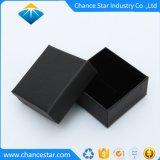 caixa de jóia preta feita sob encomenda do cartão do papel da textura