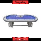 Роскошная краска Sublimatio Pokertable нестандартной конструкции пользы игроков таблицы 10 покера Техас Holdem с положением торговца (YM-TB016)