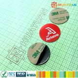 13.56MHz NFC tag RFID Ntag 213 autocollant avec la couche adhésive