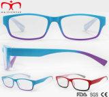 Form-Plastikanzeigen-Gläser für Frauen mit doppelter Farbe (WRP7081129)
