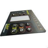 Interruptores de membrana planos de la bóveda del metal del botón impermeables con la ventana clara del LCD