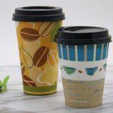 De beschikbare Koppen van de Koffie van het Document van de Muur van het Embleem van de Douane Dubbele met Deksels 8oz 12oz