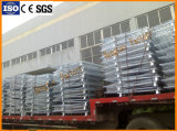 Envases amontonables plegables certificados Ce de la paleta del acoplamiento de alambre de acero