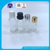 De duidelijke Fles van de Essentiële Olie van het Glas met Dalingen van Flug