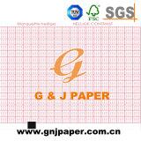 Papier d'enregistrement médical de réseau vert et rouge en feuille