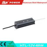 12V 5A 60W impermeabilizan la bombilla flexible de tira del LED Htl