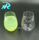 Stemless plastique tasse à vin en verre de vin rouge
