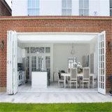 Portelli di vetro pieganti del portello Bifold di alluminio interno del vetro temperato