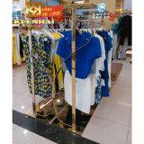 Металла нержавеющей стали Keenhai стеллаж для выставки товаров одежд выполненного на заказ вися