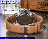 Reloj clásico del cuarzo de la manera de las señoras de encargo de la correa de cuero (WY-P17013A)