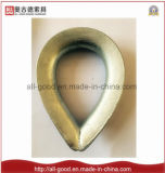 Câble métallique calant la cosse en tuyau d'acier inoxydable