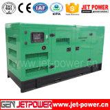 Motor chinês 100kVA gerador diesel silenciosa com bateria de 24 V DC
