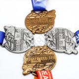 Metal de aleación de zinc personalizados baratos nave correr la maratón de esmalte Metal Premio Medalla de recuerdo de oro del deporte