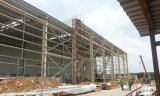 Estructura de acero de fabricación de prefabricados de luz para el taller y almacén
