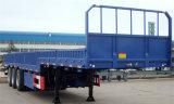 容器を運ぶための側面が付いている半1axle貨物トレーラー
