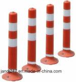 весны движения PU 75cm столб померанцовой высокой отражательной гибкой предупреждающий в Гуанчжоу