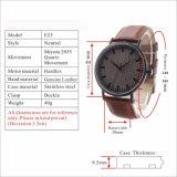 Reloj de madera vendedor caliente de la cara de la venta al por mayor de las mujeres de madera de encargo de los hombres