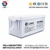 12V 250 AGM van de Batterij van de Batterijkabel van het Gel Ah Zure Batterij