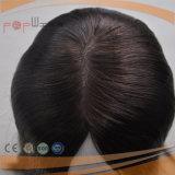 자연적인 색깔 긴 사람의 모발 실크 최고 가발 (PPG-l-0527)