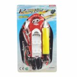 Brinquedos da água do barco inflável na corrente com bomba